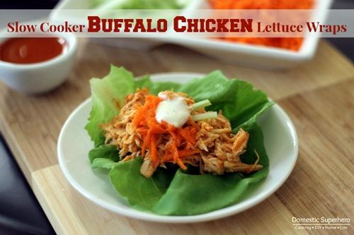 Slow Cooker Buffalo Chicken Lettuce Wraps 1