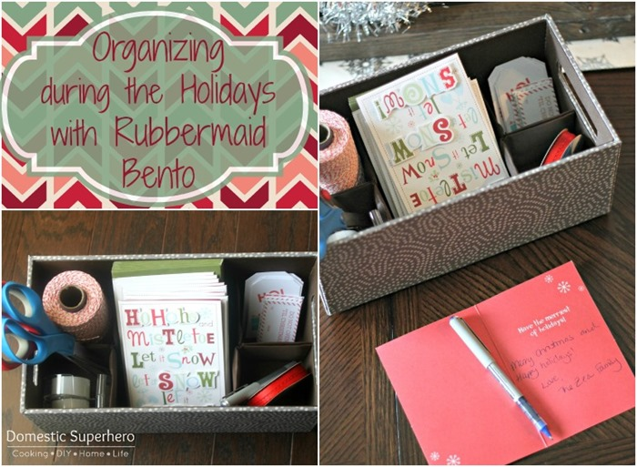 Staying Organized Through the Holidays with Bento #PMedia #holidaybento
