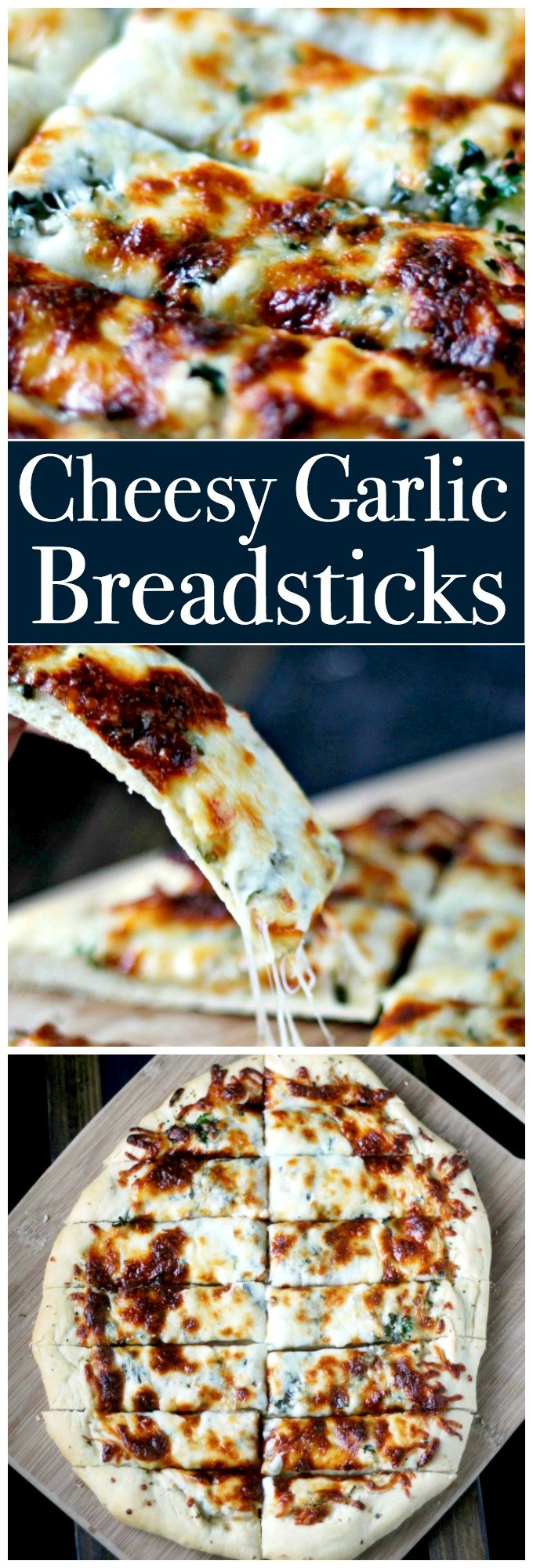 Cheesy Garlic Breadsticks will leave everyone's mouth watering. Made on fresh dough and loaded with cheese, this is a winner!