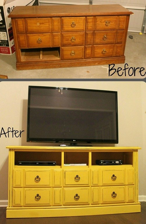 DIY Dresser Turned TV Console | Repurpose Furniture: The Best Way To Upgrade Your Home Living Economically