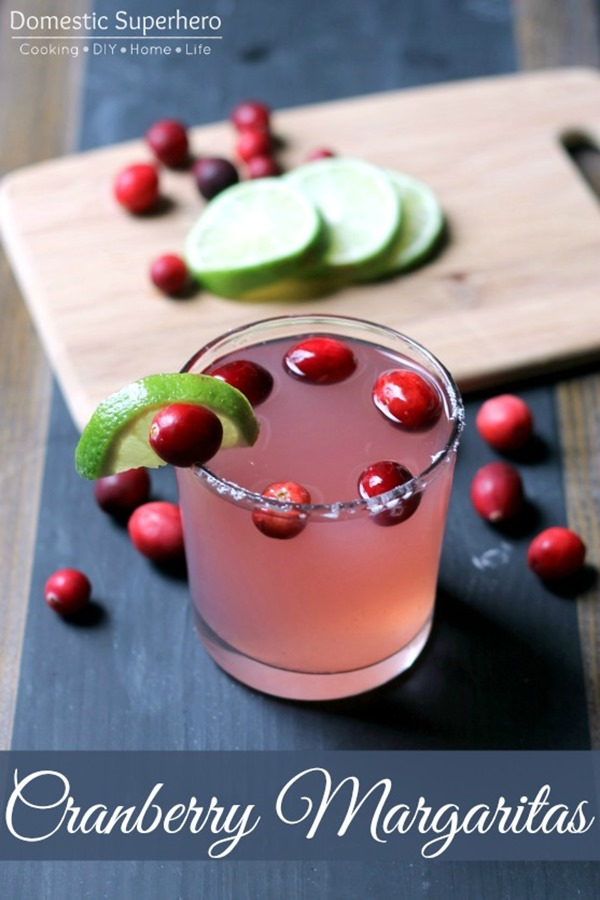 Cranberry Margaritas come together with only a handful of ingredients and are incredibly delicious! People will be begging you for this recipe!