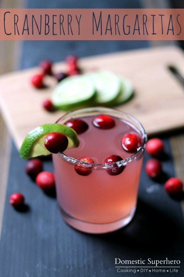 Easy Cranberry Margaritas