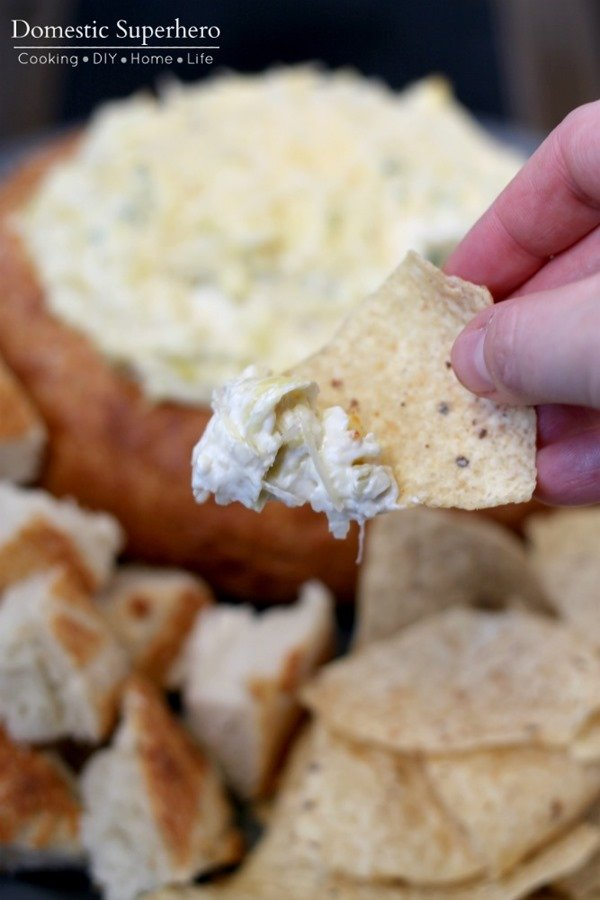 Hot and Cheesy Artichoke Dip 2