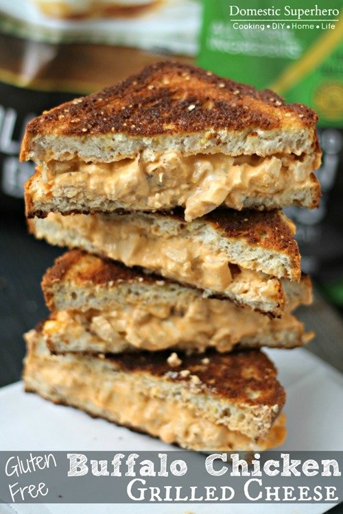 Gluten Free Buffalo Chicken Grilled Cheese