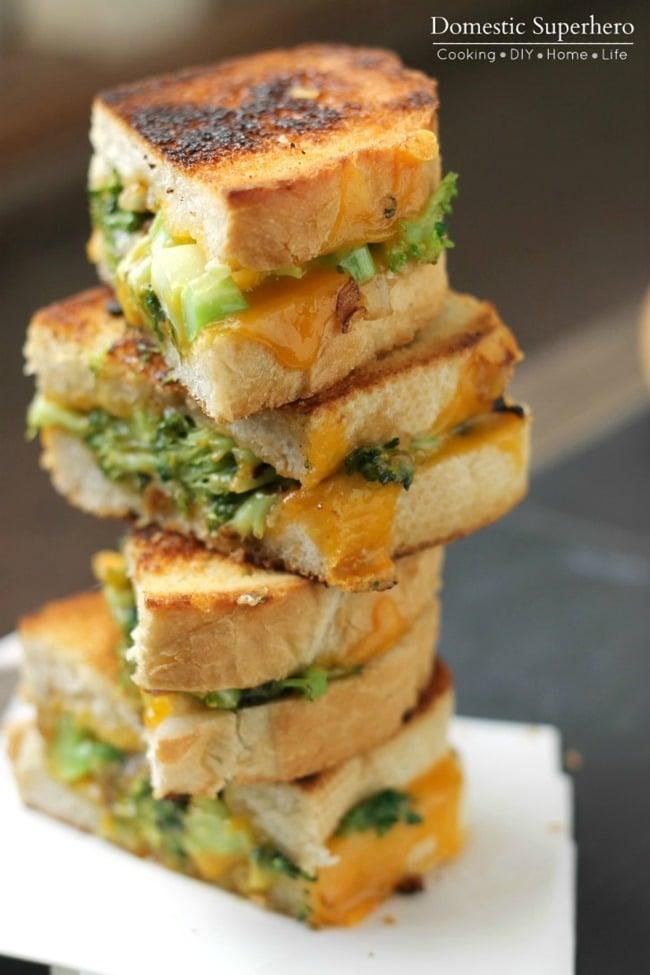 Broccoli Cheddar Grilled Cheese