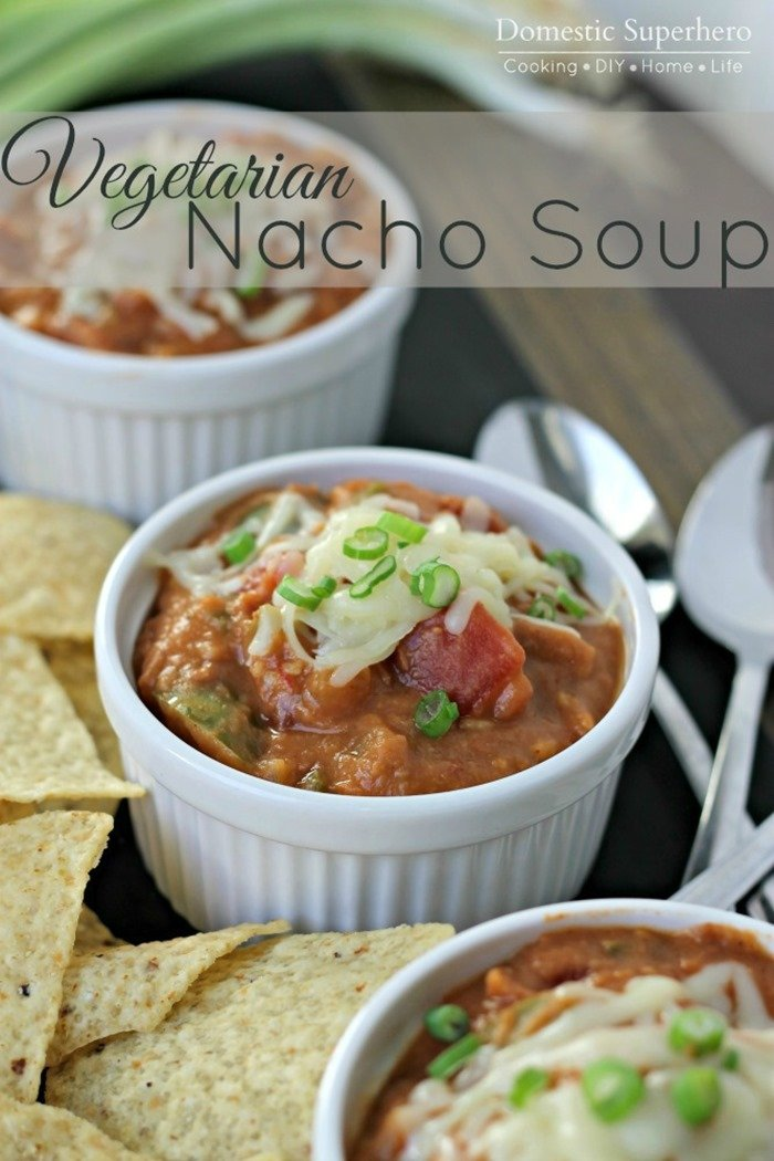 Vegetarian Nacho Soup 2
