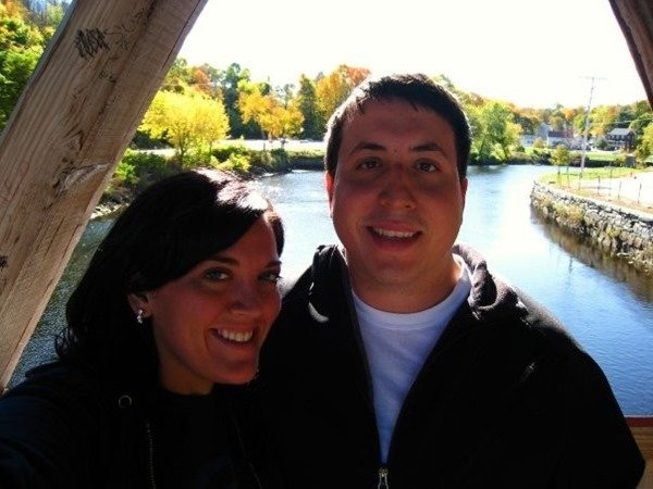 on the covered bridge in Dover, NH