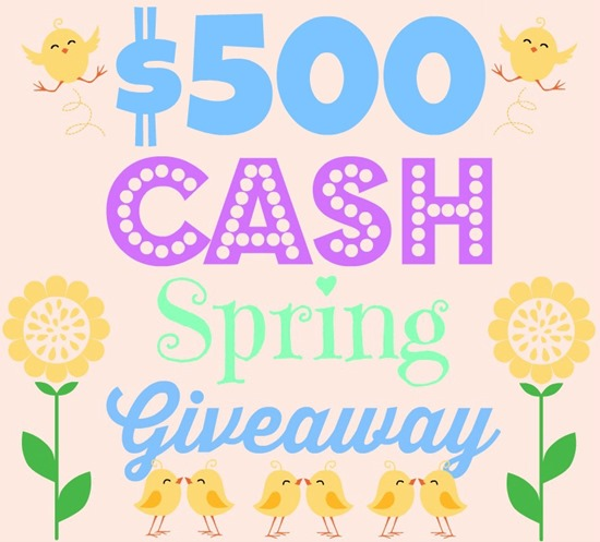 $500 Cash Spring Give Away Graphic
