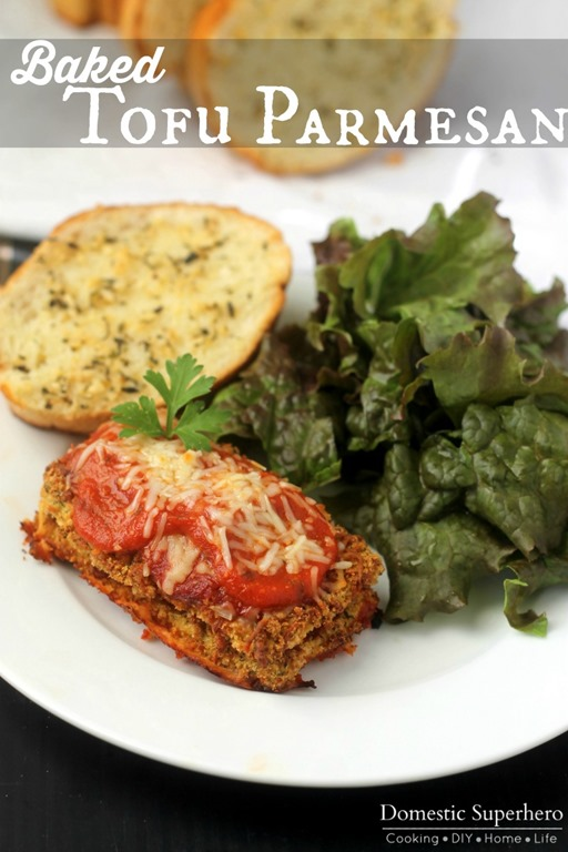 Baked Tofu Parmesan - Domestic Superhero