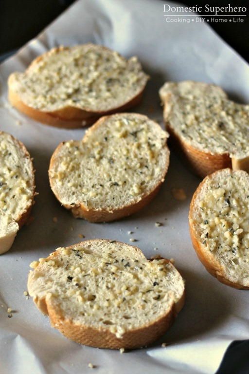 The Best Ever Easy Garlic Bread - Domestic Superhero