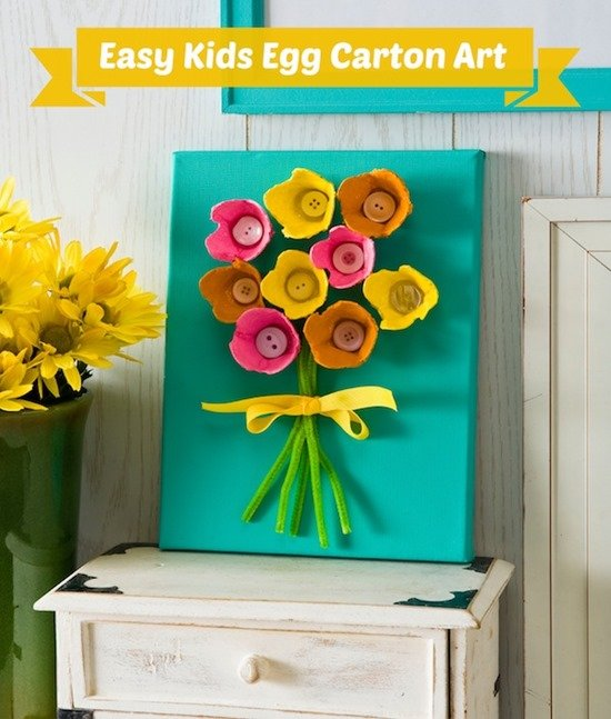 Easy-kids-craft-make-egg-carton-art