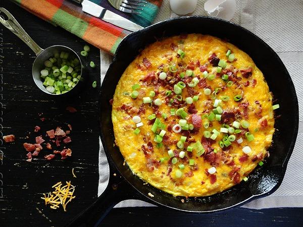 Cheesy Bacon Potato Frittata by Amanda's Cookin