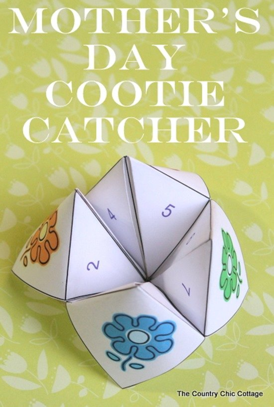 mother's day cootie catcher free printable