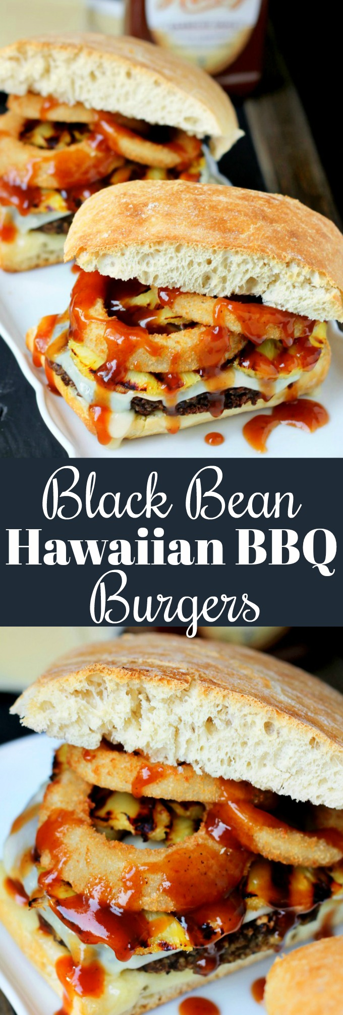 These Spicy Black Bean Hawaiian BBQ Burgers will be a hit at your next BBQ, and even the meat eaters will be asking for this recipe!