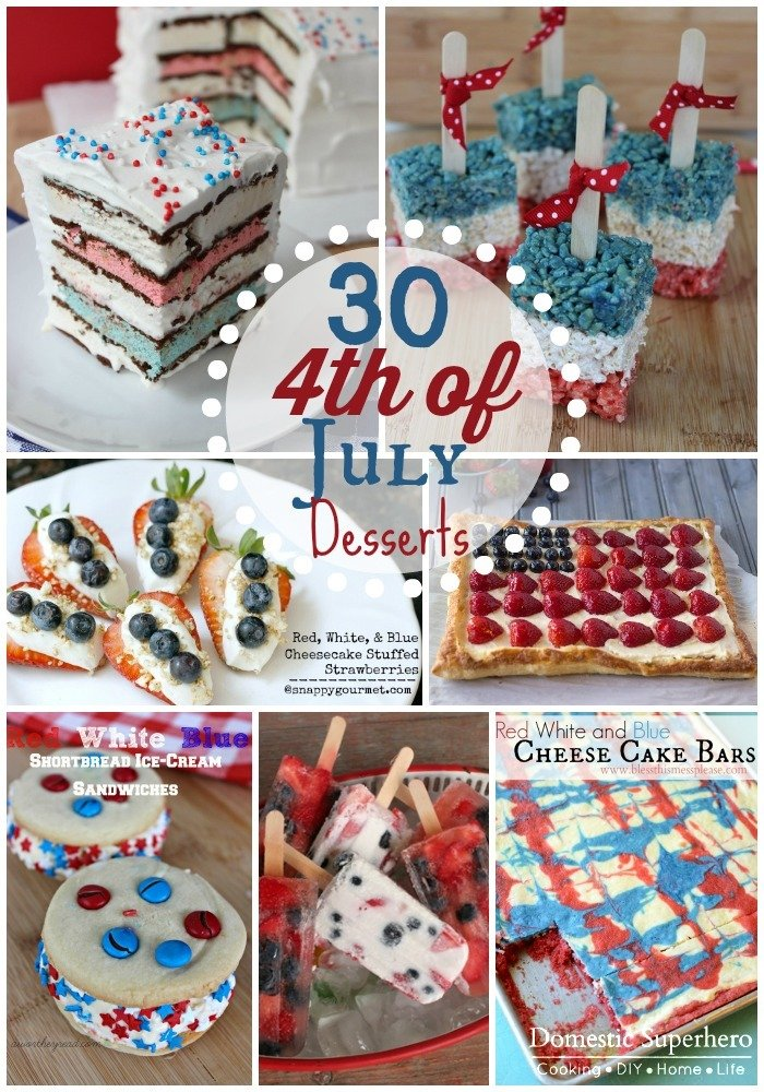 30 fabulous 4th of july desserts domestic superhero for Fourth of july party dessert ideas