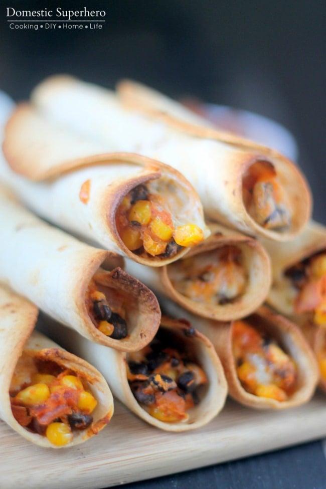 Black Bean and Sweet Potato Baked Flautas 2