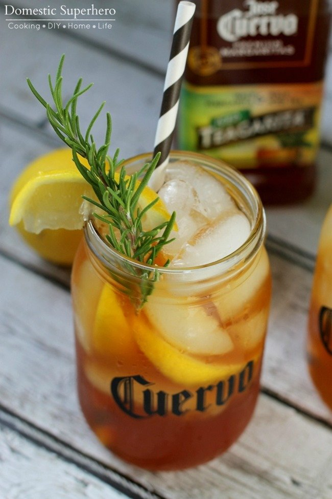 Lemon Rosemary Iced Teagaritas