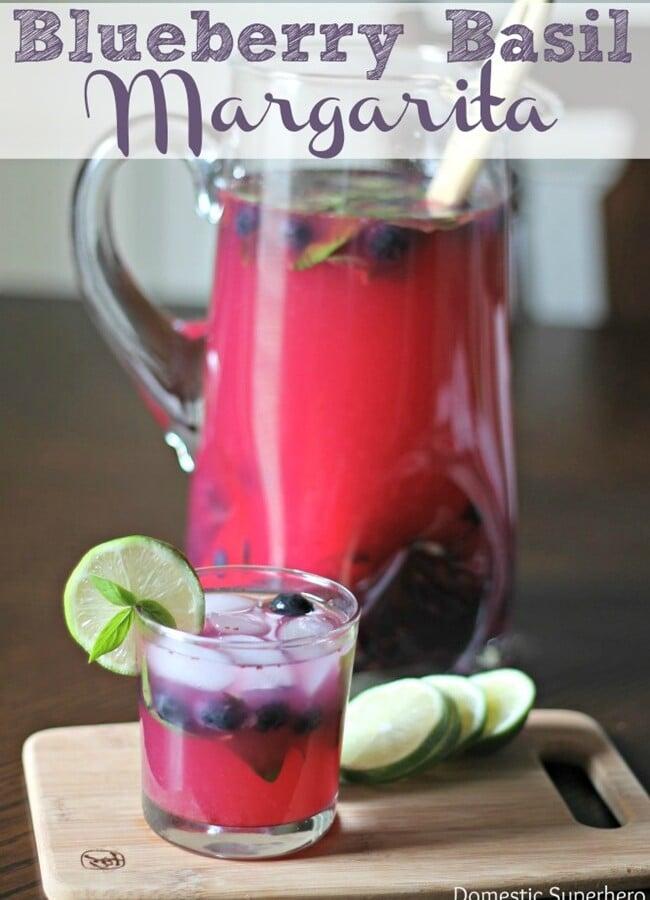 Blueberry Basil Margaritas
