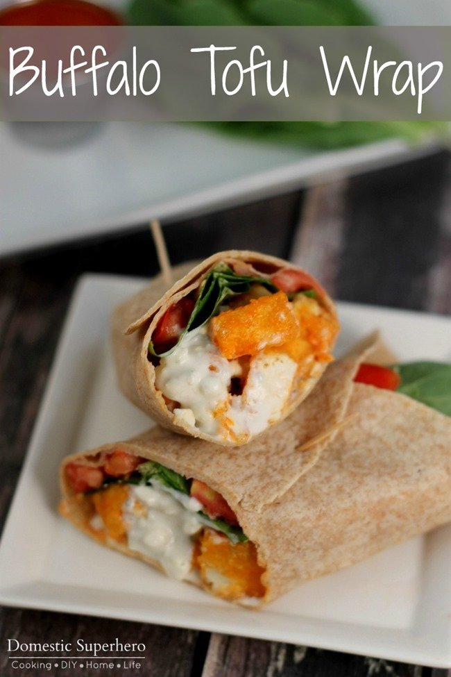 Buffalo Tofu Wraps