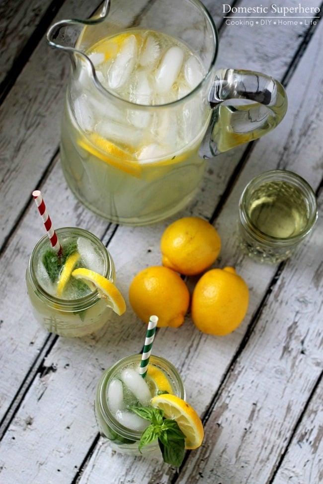 The BEST Homemade Basil Lemonade