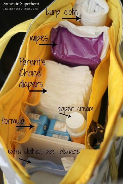 Diaper Bag Essentials and a Free Printable Checklist!