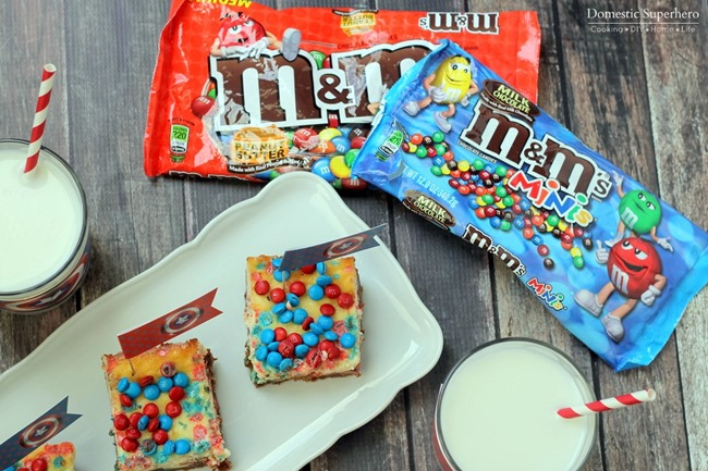 Chocolate and Peanut Butter M&M Cheesecake Bars (9)