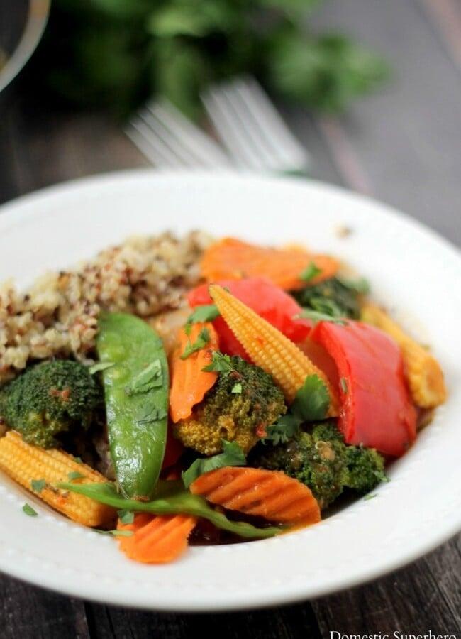 Quick Veggie & Quinoa Thai Coconut Curry