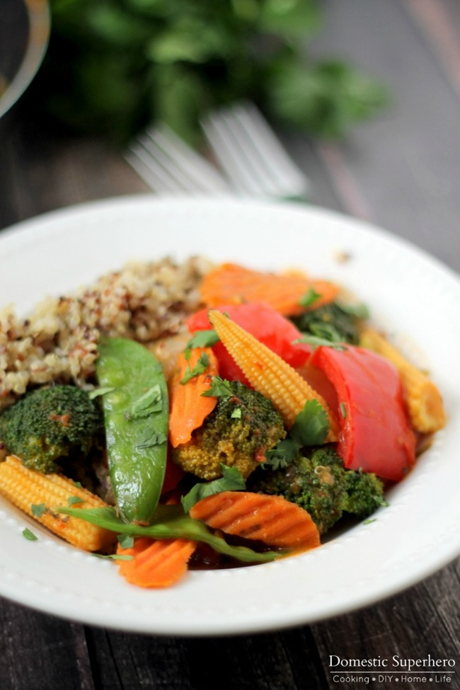 Quick Veggie & Quinoa Thai Coconut Curry 3