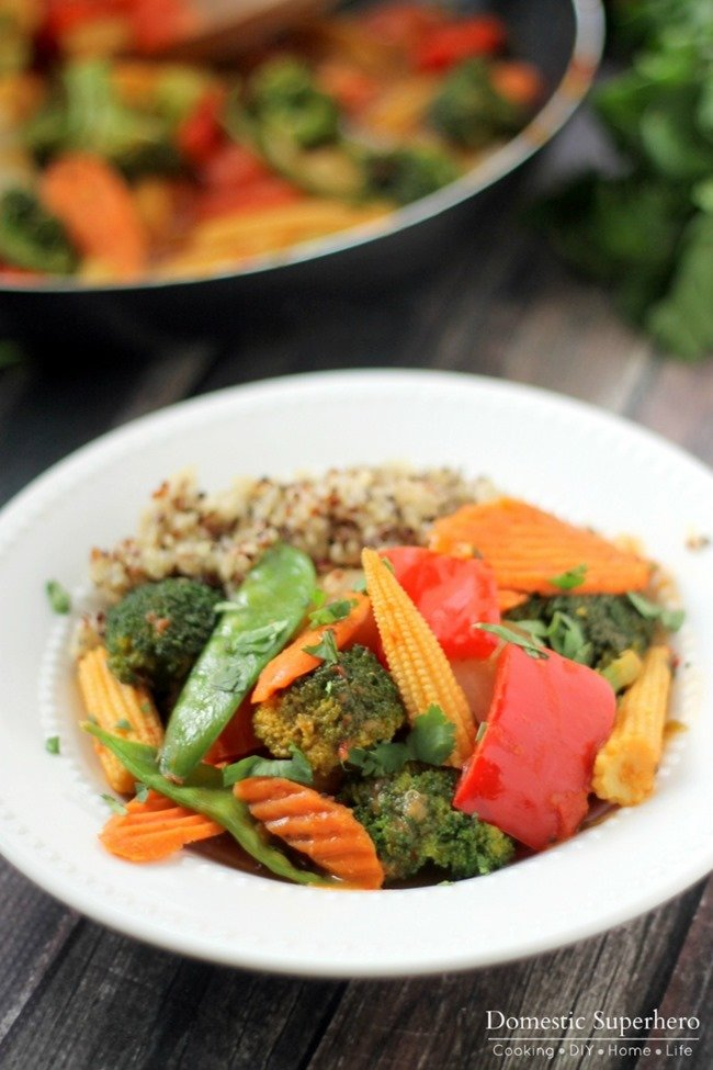 Quick Veggie & Quinoa Thai Coconut Curry 5