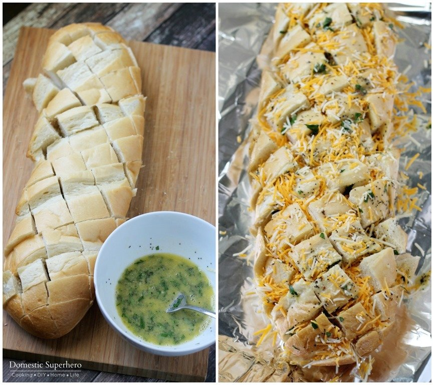 how to make homemade garlic bread with white bread