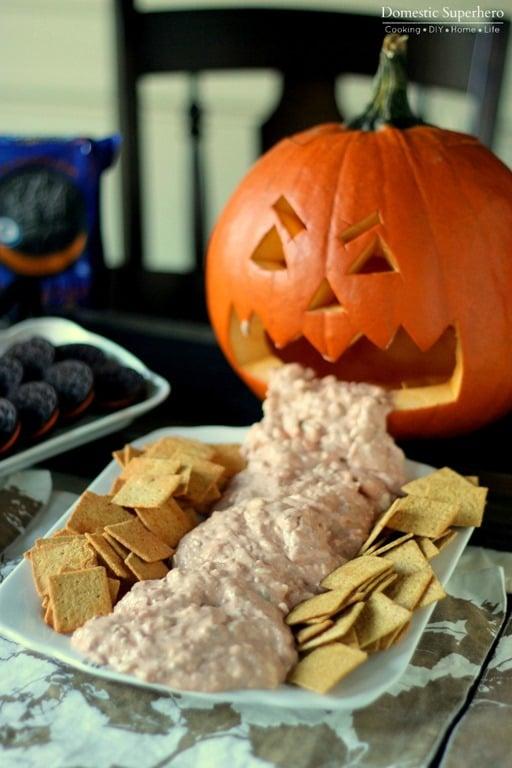 Halloween Chunky Cheese Dip Domestic Superhero