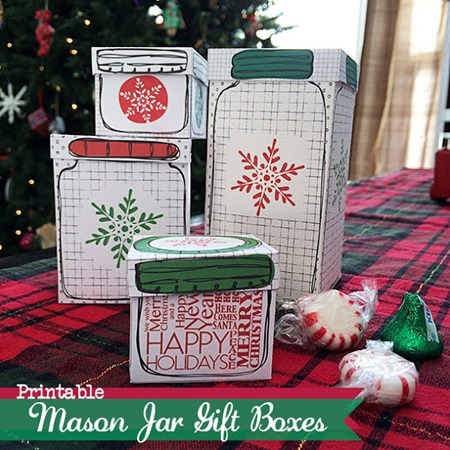 03 - Country Chic Cottage - Printable Mason Jar Gift Boxes