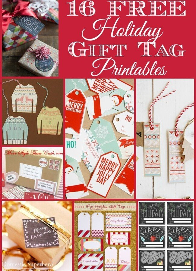 16 {FREE} Printable Gift Tags