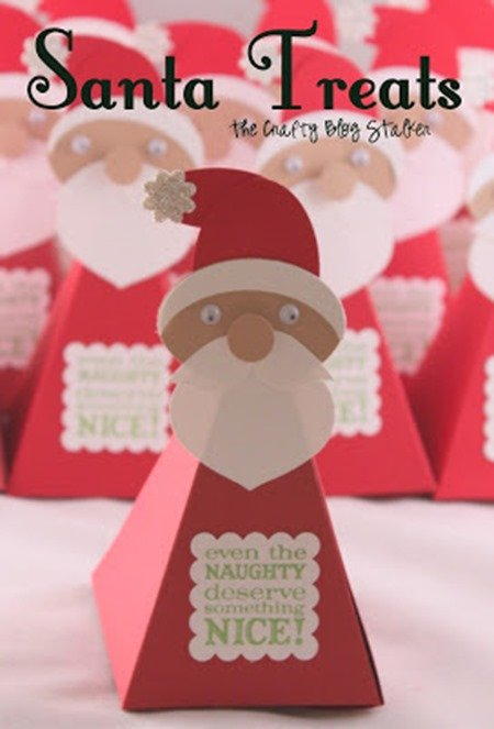 18 - The Crafty Blog Stalker - Santa Treat Boxes
