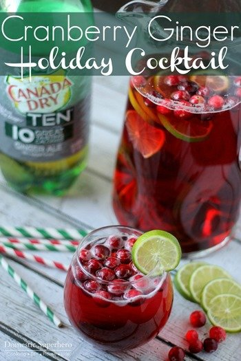 Cranberry Ginger Holiday Cocktail 2