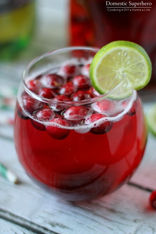 For the first drink, a Cranberry Ginger Holiday Cocktail, I decided I ...
