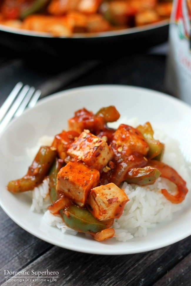 Creole Tofu with Onions and Peppers 4