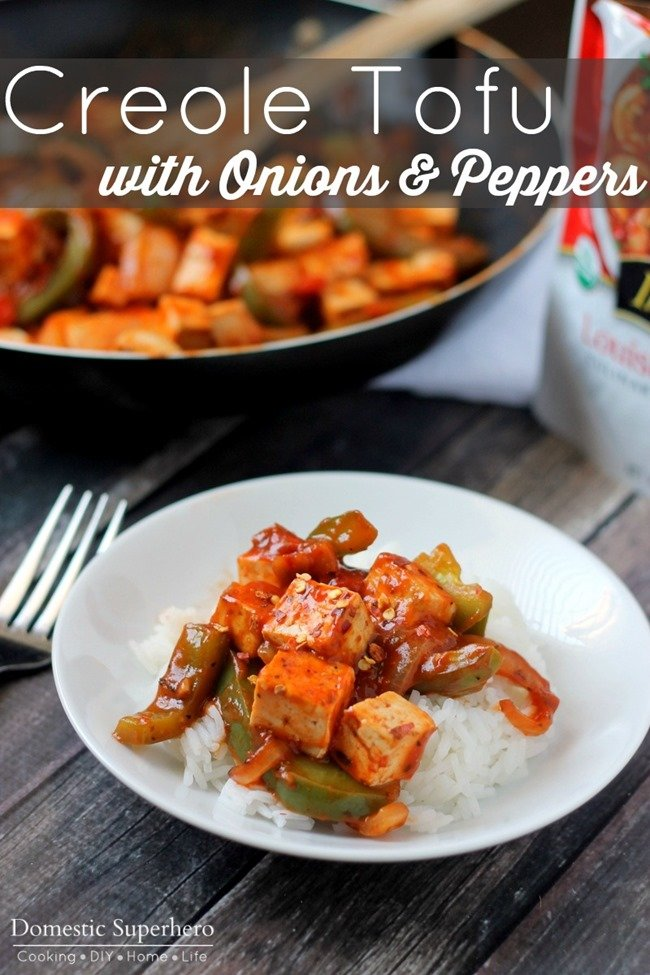Creole Tofu with Onions and Peppers