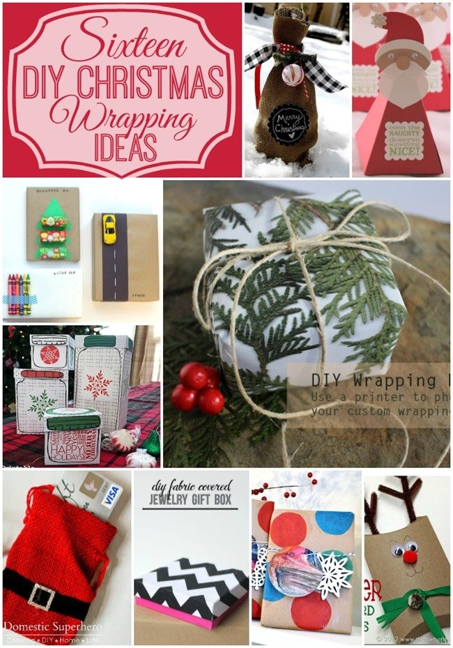 Sixteen DIY Christmas Wrapping Ideas