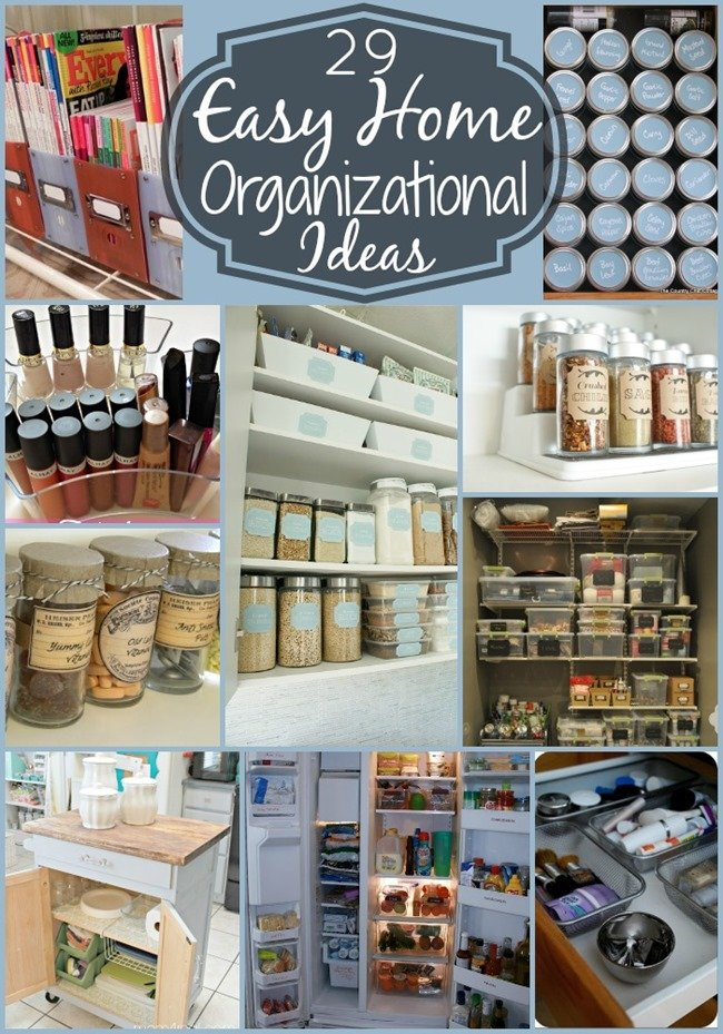 29 easy home organization ideas tips mom 4 real Easy diy storage ideas for small homes