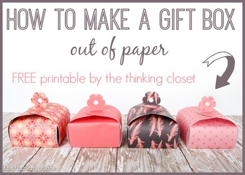 Paper Gift Boxs with Free Printable