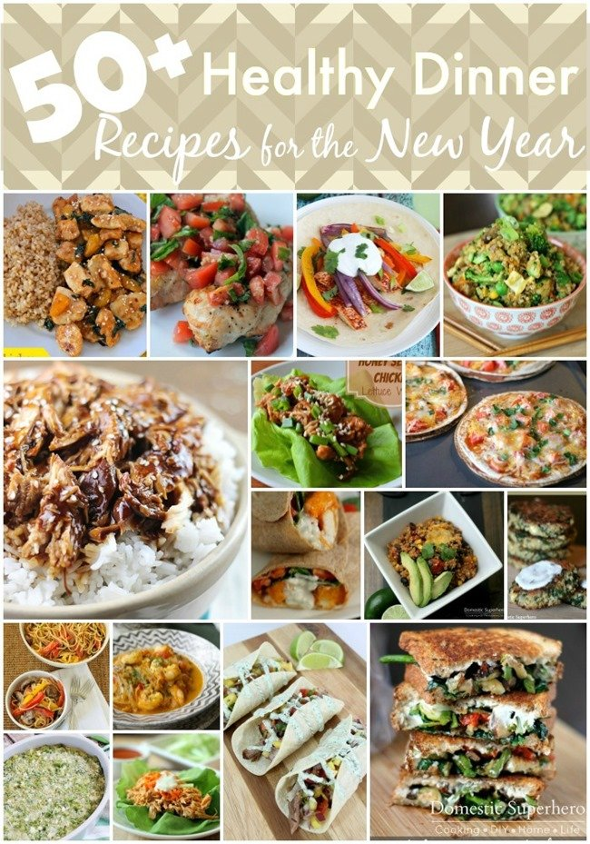 50+ Healthy Dinner Recipes for the New Year - this is a great way to start the new year!