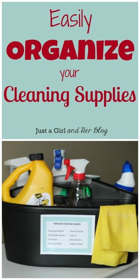 Home Organization Tips - Cleaning Supplies