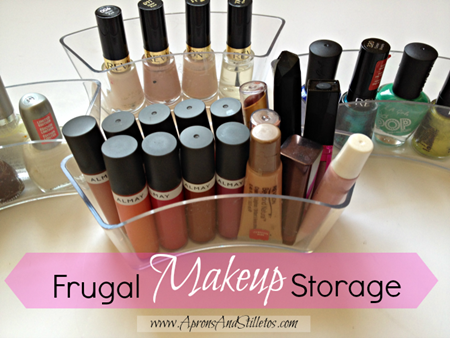 Frugal Makeup Storage