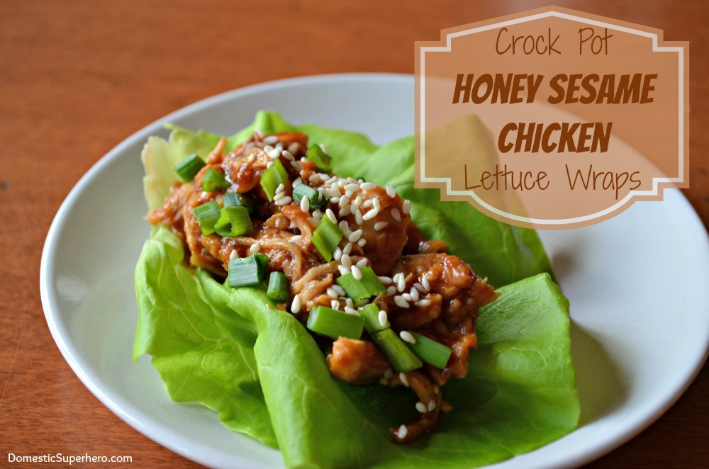 Honey Sesame Chicken Lettuce Wraps