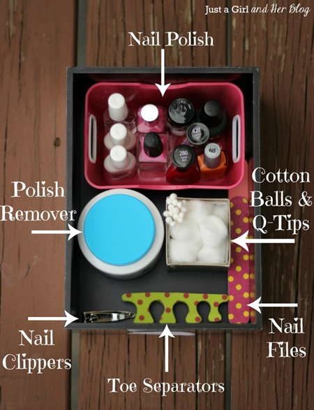Organization Tips - Mani Pedi Box