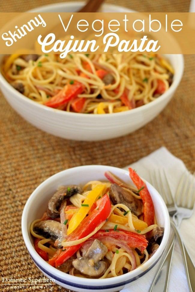 Skinny Vegetable Cajun Pasta
