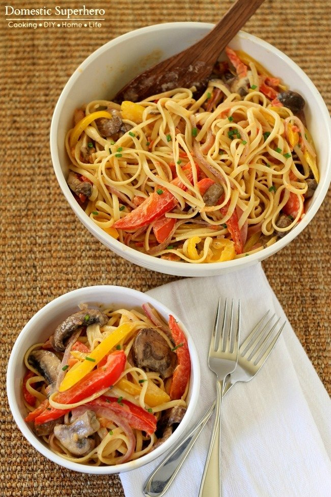 Skinny Vegetable Cajun Pasta