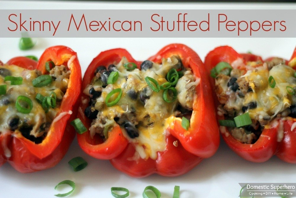 Skinny Mexican Stuffed Peppers / 'Taco Bell' Mexican Pizzas