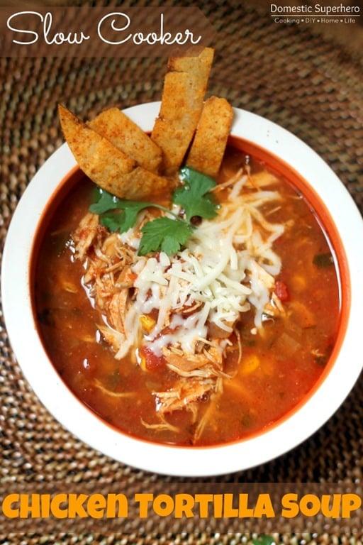 Healthier Slow-Cooker Chicken Tortilla Soup Recipe — Dishmaps